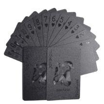Design PÓKERKÁRTYA mahagóni díszdobozban - fekete lapokkal