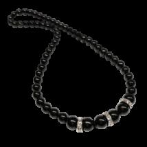 Swarovski gyöngy nyaklánc - Mystic Black - fekete