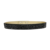 4 kősoros Swarovski kristályos nyakpánt - Silver Night - fekete
