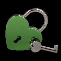 Gravírozható szerelemlakat -zöld