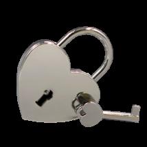 Gravírozható szerelemlakat -ezüst