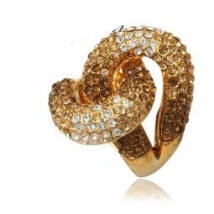 Retorta - Swarovski kristályos - Gyűrű