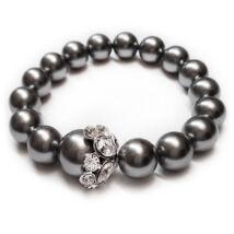 Swarovski gyöngy karkötő - Grey Pearl - ezüst