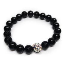 Swarovski gyöngy karkötő - Mystic Black  - Crystal AB kristálygyönggyel - fekete