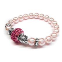 Swarovski gyöngy karkötő - Rosaline - Rose - rózsaszín