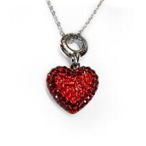 Heart - Swarovski kristályos ezüst nyaklánc