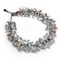 Exkluzív, Swarovski kristályokból fűzött karkötő - Crystal AB