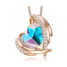 Rainbow Angel- Swarovski kristályos nyaklánc-színjátszó-arany