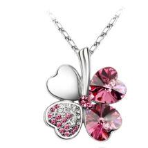 Szerencse - rózsaszín - Swarovski kristályos nyaklánc