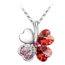 Szerencse - piros - Swarovski kristályos nyaklánc