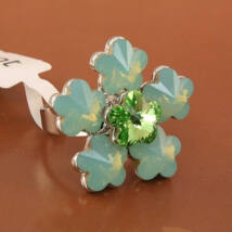 Opálvirág - Swarovski kristályos - Gyűrű
