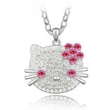 Hello Kitty - Swarovski kristályos nyakék - rózsaszín