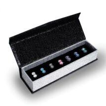 7 nap, 7 ékszer - ékszerdobozos Swarovski kristályos fülbevaló kollekció