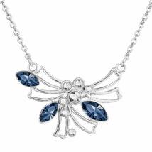 ANGEL'S - Kézzel készített Swarovski kristályos nyaklánc - Denim Blue - kék