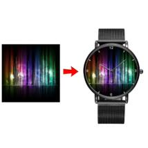 Fotó-karóra készítés egyedi képpel - választható szöveg gravírozással -  számos óra jelzéssel - fekete színben