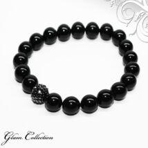 Swarovski gyöngy karkötő - Mystic Black   - Hematite kristálygyönggyel - fekete