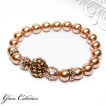 Swarovski gyöngy karkötő - Rose Gold, Rose Gold kristálygyönggyel