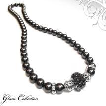 Swarovski gyöngy nyaklánc- Black - fekete