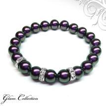 Swarovski gyöngy karkötő - Iridescent Purple