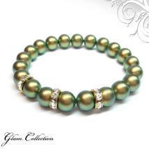 Swarovski gyöngy karkötő - Iridescent Green