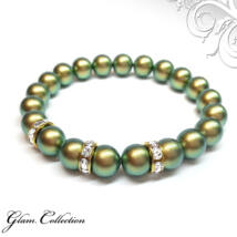 Swarovski gyöngy karkötő - Iridescent Green - zöld