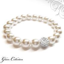Swarovski gyöngy karkötő - White  - Crystal
