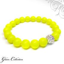 Swarovski gyöngy karkötő - Neon Yellow