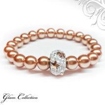 Swarovski gyöngy karkötő - Rose Gold, csillagos kristálydísszel