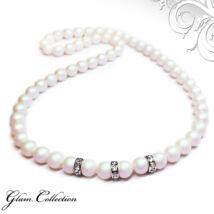 Swarovski gyöngy nyaklánc -Pearlescent White