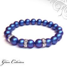 Swarovski gyöngy karkötő - Iridescent Dark Blue