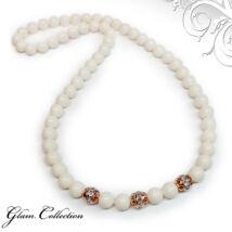 Swarovski gyöngy nyaklánc- Ivory - fehér