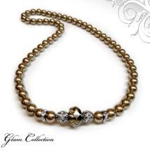 Swarovski gyöngy nyaklánc - Bronze - barna
