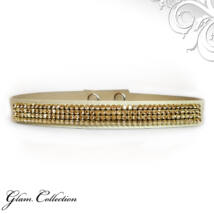 4 kősoros Swarovski kristályos nyakpánt - Golden shadow