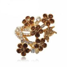 Barna kert - Swarovski kristályos - Gyűrű