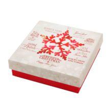 Gyönyörű karácsonyi mintával díszített doboz - ékszerszettekhez,nyakláncokhoz