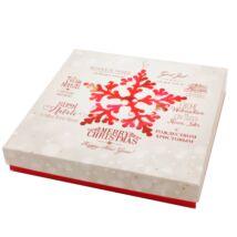 Gyönyörű karácsonyi mintával díszített doboz - ékszerszettekhez