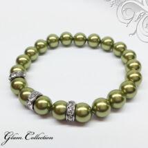 Swarovski gyöngy karkötő - Light Green - zöld
