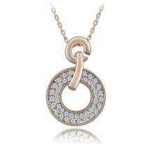 Aranykarika nyaklánc - Swarovski kristályos - Medál