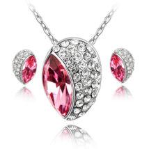 Huevos ékszerszett - rózsaszín - Swarovski kristályos