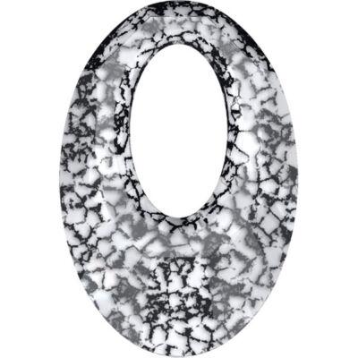Helios Swarovski medál - vastag vagy vékony nyaklánccal - Black Patina