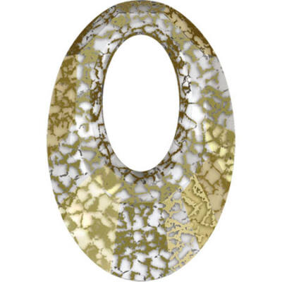 Helios Swarovski medál - vastag vagy vékony nyaklánccal - Gold Patina