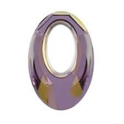 Helios Swarovski medál - vastag vagy vékony nyaklánccal - Lilac Shadow