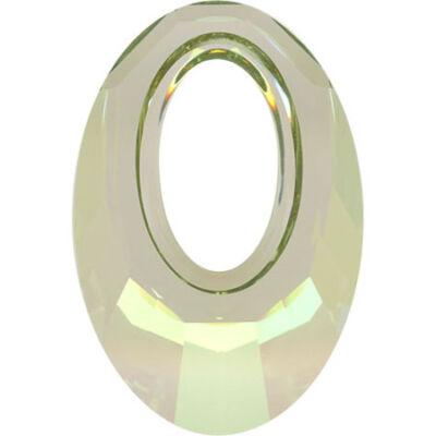 Helios Swarovski medál - vastag vagy vékony nyaklánccal -Crystal Luminous Green