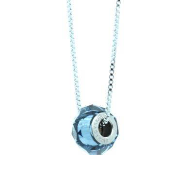 """Briolette Bead"" -Swarovski medál nyaklánccal - Sapphire - kék"