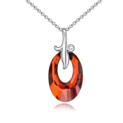 Anjou kristály - piros - Swarovski kristályos nyaklánc