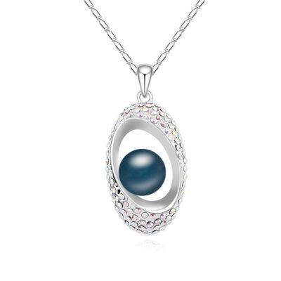 'A mindent látó szem'- Swarovski kristályos - Medál- kék