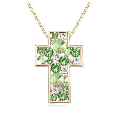 Iglesia- zöld - Swarovski kristályos nyaklánc