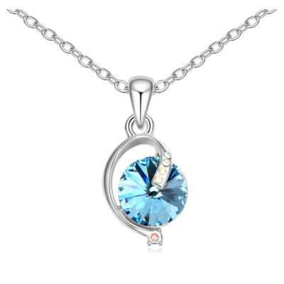 Lámpás- kék- Swarovski kristályos nyaklánc