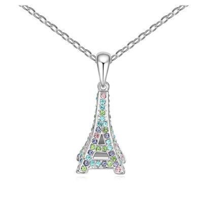 Eiffel-torony- színes- Swarovski kristályos - Medál