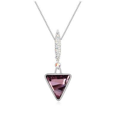 Triangulum - bordó - Swarovski kristályos nyaklánc
